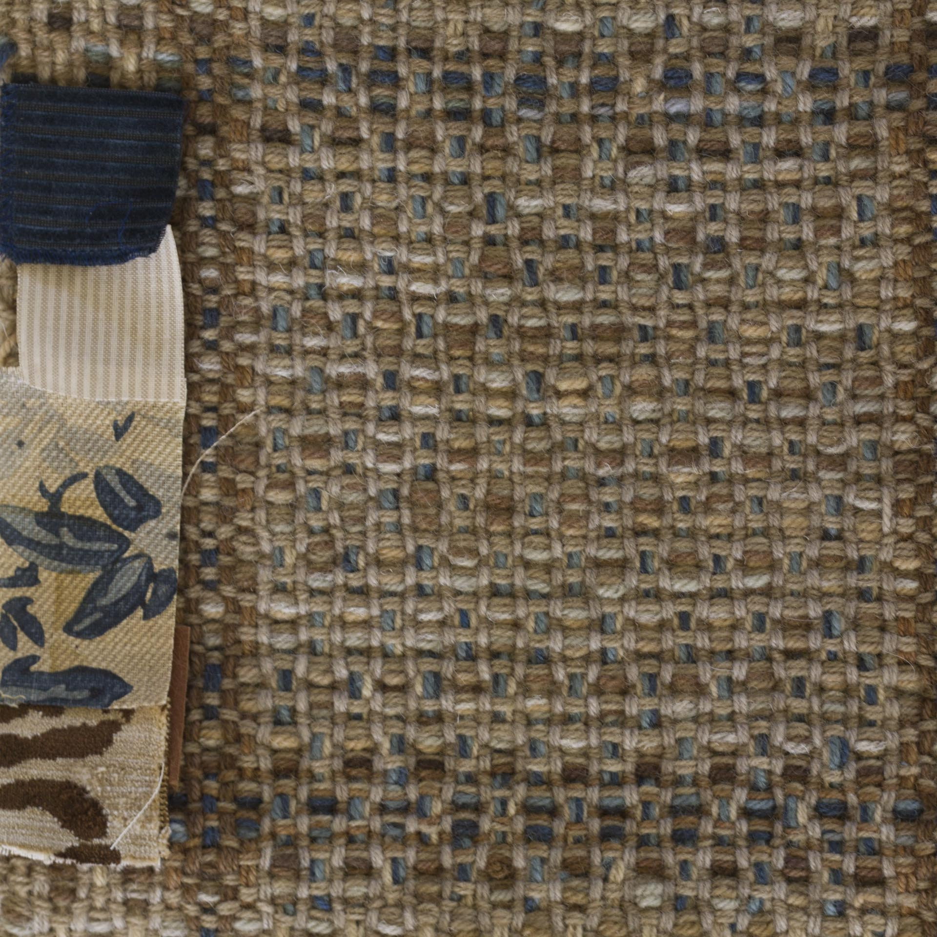 Montagne Handwoven woven strike-off with fabric swatches provided by the client