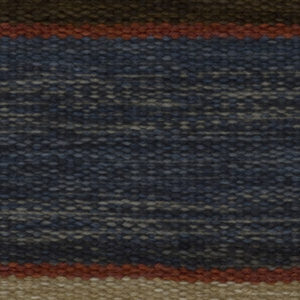 Custom handmade rug by Montagne Handwoven. Flat weave rug in earthtones with stripe detail
