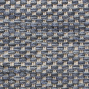 Custom handmade rug by Montagne Handwoven. Texture Weave pattern rug in blue and white